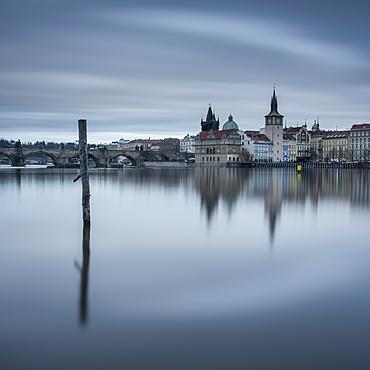 Prague at dawn, Prague, Czech Republic, Europe
