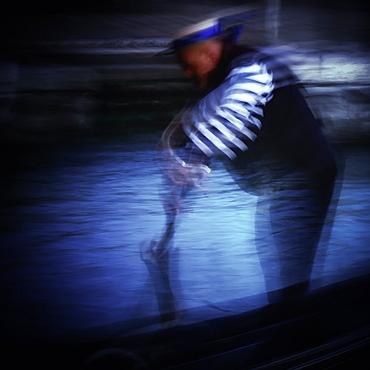 Gondolier in Venice, Italy, Europe