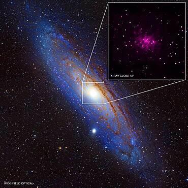 M31, Andromeda Galaxy, Composite