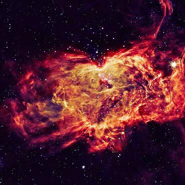 Glowing Flame Nebula