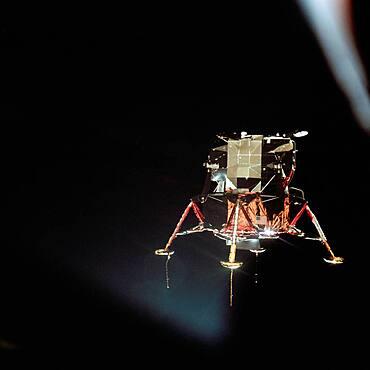Apollo 11 Lunar Module In Landing Configuration, 1969