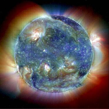Extreme Ultraviolet Sun, SOHO EIT, 1998
