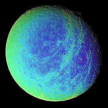 Rhea, Moon of Saturn, Cassini Image