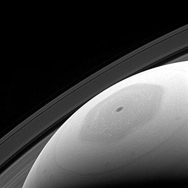 Saturn's North Pole, Hexagonal Jet Stream