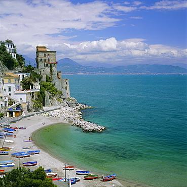 Coastline near Santa Margherita, Amalfi, Campania, Italy, Europe