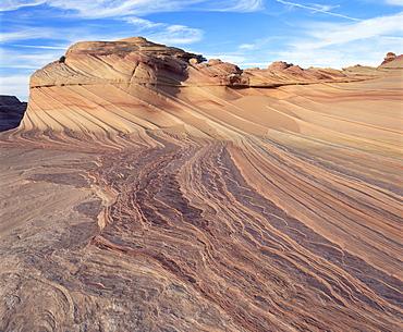 Rock formation known as Swirls on Colorado Plateau, Arizona, United States of America (U.S.A.), North America