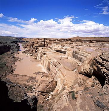 Chocolate Falls near Flagstaff, Arizona, United States of America (U.S.A.), North America