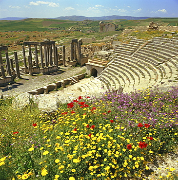 Roman theatre at Dougga, Tunisia