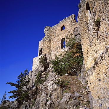 Byzantine watchtower rebuilt as a castle by Lusignans in the 12th century, Buffavento, Northern Cyprus, Cyprus, Europe