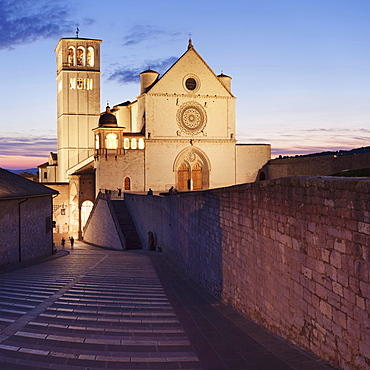 Basilica of San Francesco, UNESCO world heritage site, Assisi, Province of Perugia, Umbria, Italy, Europe
