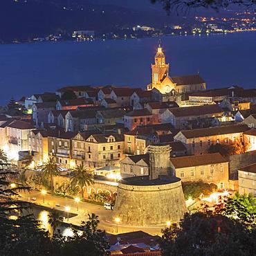 Old town of Korcula, island of Korcula, Croatian Adriatic coast, Dalmatia, Croatia, Europe