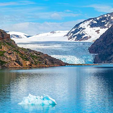 Glacier at Prins Christian Sund, Greenland, North America