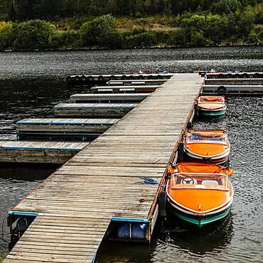 Black Forest, Pier am Schluchsee, Baden-Wuerttemberg, Germany, Europe