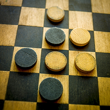 Checkers on a checkerboard