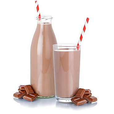 Chocolate milk chocolate shake milkshake glass bottle glass straw cropped cropped isolated against a white background