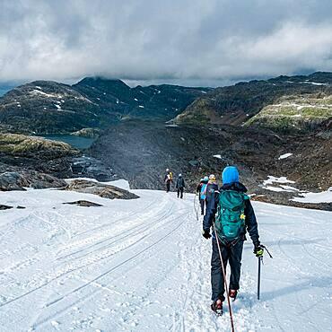 Glacier hiking, Folgefonna Nationalpark, Norway, Europe