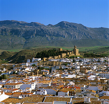 Alcazaba and old town, Antequera, Andalucia, Spain, Europe
