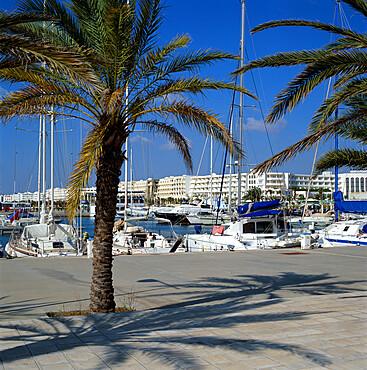 The marina, Yasmine Hammamet, Cap Bon, Tunisia, North Africa, Africa
