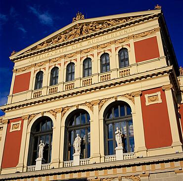 Exterior of Musikverein concert hall, Vienna, Austria, Europe