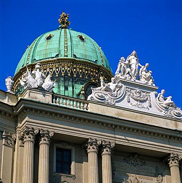 Hofburg dome, UNESCO World Heritage Site, Vienna, Austria, Europe