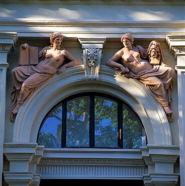 Classical style window, Vienna, Austria, Europe