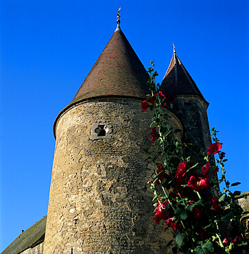 Tower of the Chateau, Chateauneuf, Burgundy, France, Europe