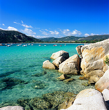 Plage de Santa Giulia, South East Corsica, Corsica, France, Mediterranean, Europe