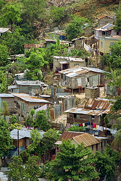 Shanty town, Montego Bay, Jamaica, West Indies, Caribbean, Central America