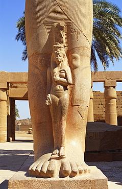 Statue of Bant Anta and Ramses II, Temple of Karnak, Luxor, Egypt