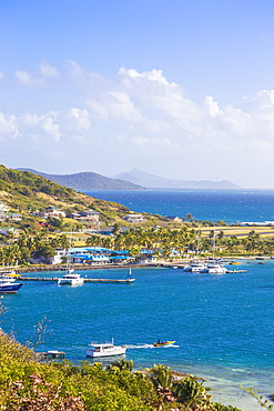 View of Clifton Harbour, Union Island, The Grenadines, St. Vincent and The Grenadines, West Indies, Carribean, Central America
