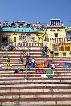Gauri Kedareshwar Temple, Kedar Ghat, Varanasi, Uttar Pradesh, India, Asia