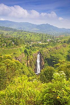 Devon Falls, Nuwara Eliya, Central Province, Sri Lanka, Asia