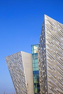 View of the Titanic Belfast Museum, Belfast, Ulster, Northern Ireland, United Kingdom, Europe