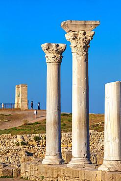 Ukraine, Crimea, Sevastopol, Ancient City of Khersoness, Ruins of ancient theatre