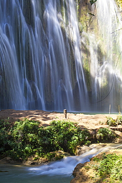 El Limon Waterfall, Eastern Peninsula de Samana, Dominican Republic, West Indies, Caribbean, Central America