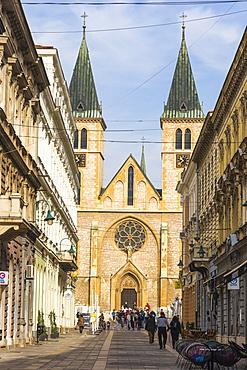The Cathedral of Jesus Sacred Heart, Sarajevo, Bosnia and Herzegovina, Europe