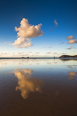 Trevose Head and Constantine Bay at sunset, Cornwall, England, United Kingdom, Europe