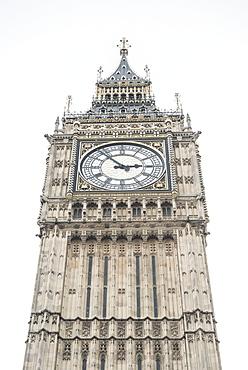 Big Ben (Elizabeth Tower), Houses of Parliament, Westminster, London, England, United Kingdom, Europe