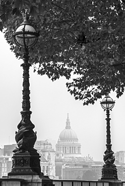 St. Paul's Cathedral, seen from South Bank, London, England, United Kingdom, Europe