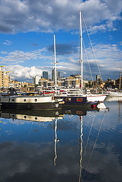 Limehouse Basin, London Borough of Tower Hamlets, East London, England, United Kingdom, Europe