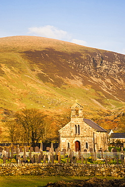 Church in Snowdonia National Park, North Wales, Wales, United Kingdom, Europe