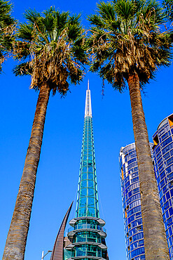 View of The Bell Tower, a tourist attraction, Perth City, Western Australia, Australia, Pacific
