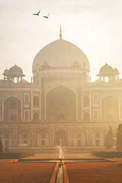Humayun's Tomb at sunrise in Delhi, India, Asia