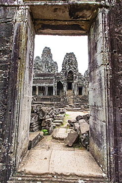 Face towers in Bayon Temple in Angkor Thom, Angkor, UNESCO World Heritage Site, Siem Reap Province, Cambodia, Indochina, Southeast Asia, Asia