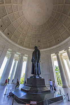 Inside the rotunda at the Jefferson Memorial, Washington D.C., United States of America, North America