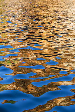 Reflections in the late afternoon light on the King George River, Kimberley, Western Australia, Australia, Pacific