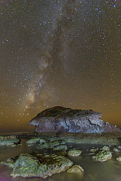 Night view of the Milky Way from Himalaya Beach, Sonora, Mexico, North America