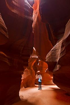 Upper Antelope Canyon, Tse' bighanilini, LeChee Chapter, Navajo Nation, Arizona, United States of America, North America