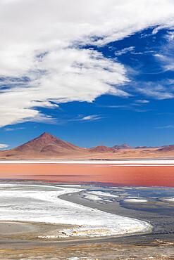 An endorheic salt lake in the altiplano, Eduardo Avaroa Andean Fauna National Reserve, Bolivia.