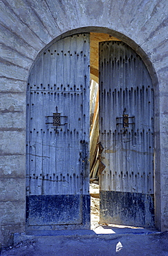 Opened gate, Mallorca, Spain, Europe